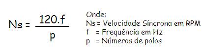 fórmula de velocidad del motor trifásico