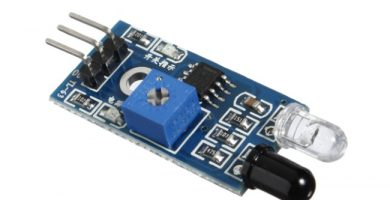Sensor infrarrojo reflectante de obstáculos y Arduino